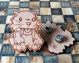 SaberTooth wood Pin!!!