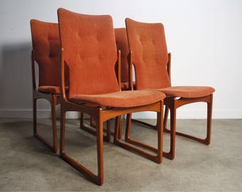 Danish Modern Teak Dining Chairs by Vamdrup Stolefabrik, Set of 4