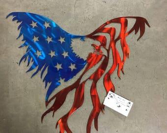 Eagle wth flag