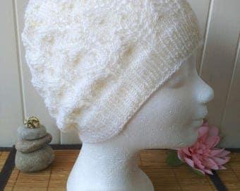 Snow Angel knit Merino cashmere, white off Hat