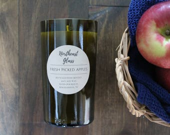 Wine candle // Wine bottle candle // Apple candle // Fall candle // Soy candle