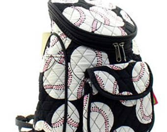 Quilted Baseball Backpack with free monogram