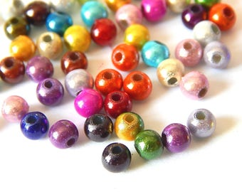 Beads magical miracles 3D acrylic 4mm