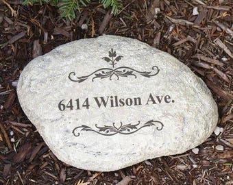Personalized Garden Stone, Address Garden Stone