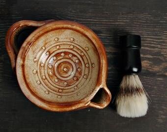 Shaving cup, gift for him,  shaving Mug, brown Shaving Scuttle,Shaving bowl, Mug for shaving