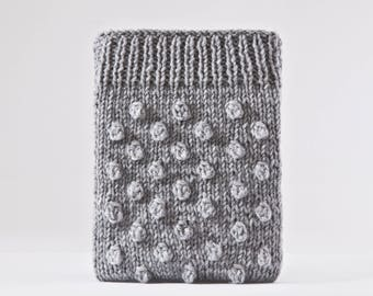 iPad Mini 4 Case, Girlfriend Gift, Gray iPad Mini Case, Knitted Kindle Paperwhite Case, Gifts for Mom, Gray iPad Air 2 Case, iPad pro 10.5