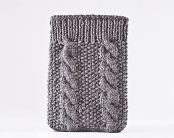 Knitted Kindle Paperwhite Case, iPad Mini 4 Case, Girlfriend Gift, Gray iPad Mini Case, Gifts for Mom, Gray iPad Air 2 Case, iPad pro 10.5
