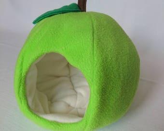 Apple Fleece House for Guinea Pig , Pygmy Hedgehog , Degu , Rat etc