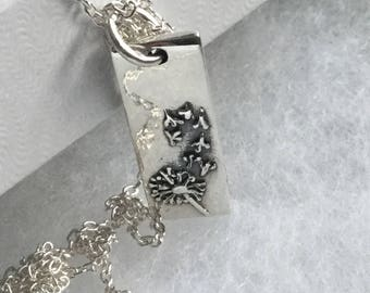 Sterling silver dandelion necklace Dandelion jewelry Dandelion pendant Dandelion wish Gift for her Gift for daughter Dandelion charm