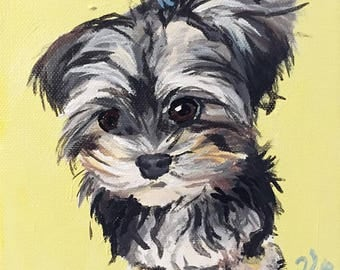 Custom Pet Portrait 6 in by 6 in