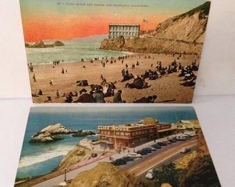 ON SALE 2 Vintage Cliff House San Francisco California CA Old Vintage Postcards