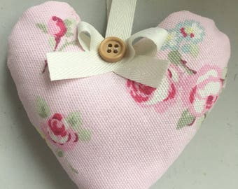 Handmade floral hanging heart