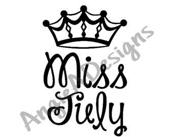 Miss July with Crown SVG