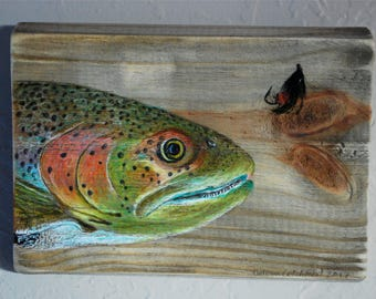 Trout with Fishing Fly