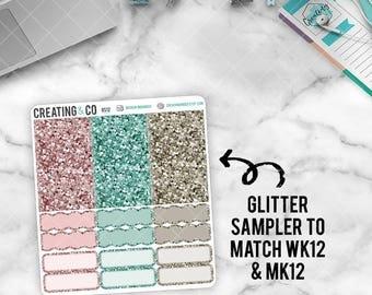 Faux Glitter Functional Sampler to match Planner Girl - GS12