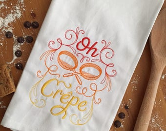Oh Crepe Kitchen Towel, Baker's Gift