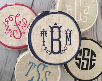 Monogrammed Jewelry Case, personalized jewelry round, jewelry storage, monogrammed gift