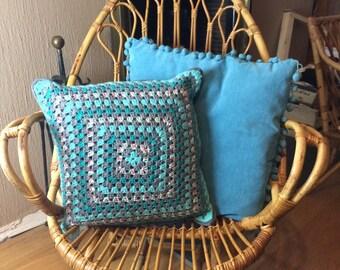 Crochet 40/40 cm cushion