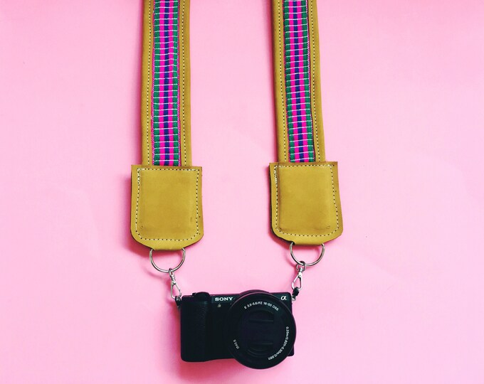 Featured listing image: Mustard Leather Camera Strap