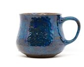 Handmade ceramic mug Big blue cup. Pottery coffee mug Large ceramic pottery mug home dishes ceramic blue mug gift for her