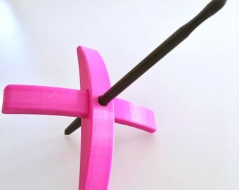 3D printed Turkish spindle by TurtleMade Standard Size Medium