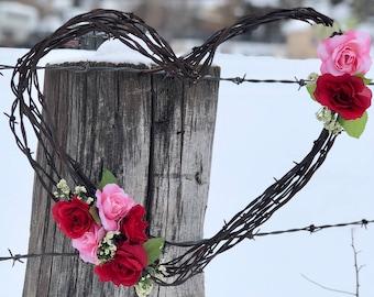 Rose Barbwire Heart