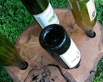 Wine holder Oak treeyokmj slabyhypl the hfgp gt