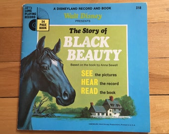 Vintage 1960s Walt Disney The Story of Black Beauty Record Book Set!
