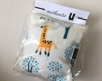 Eye Pillow - Organic Lavender & Flax - Giraffe and Teal Trees