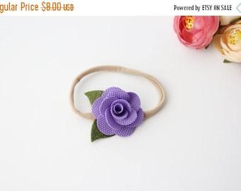 30% OFF Purple Flower Headband - Rose - Flower Headband