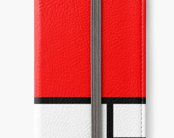 Folio Wallet Case for iPhone 8 Plus, iPhone 8, iPhone 7, iPhone 6 Plus, iPhone SE, iPhone 6 - Composition II Red Blue & Yellow Mondrian