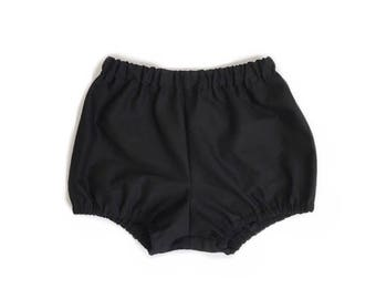 black bloomers - baby bloomers solid black