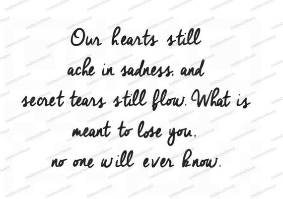 Our hearts still ache with sadness PNG, Your wings were ready but our hearts were not PNG, Png, Cricut, Print and Cut File