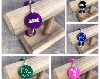 Customizable Cheerleading Bangle Bracelet Cheer Jewelry