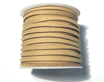 5 Meter/ Roll Light Brown Faux Suede Cord 3x1.5mm ( No.16)