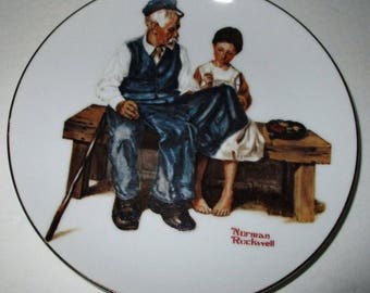 Norman Rockwell 1982 The Lighthouse Keeper's Daughter Collector's Plate