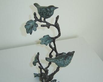 Metal Bird Sculpture, Tabletop, Heavy and Well Balanced, Vintage, Graceful Art,  SUMMER SALE!