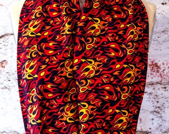 Fire Flames Infinity Scarf