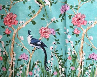 Fabric - Michael Miller - Chinoiserie border - medium weight woven cotton fabric.