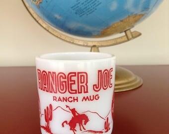 Ranger Joe Milk Glass Mug