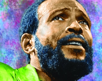 Marvin Gaye Colorful