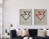 2 Fontana prints for Masuda