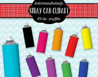 80% OFF SALE Spray Paint Cans Clipart, 300 dpi Png file, commercial use, paint clipart, graffiti clipart