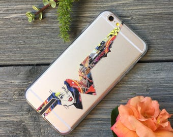 Wonder Woman Inspired iPhone Case, Your choice of Soft Plastic (TPU) or Wood