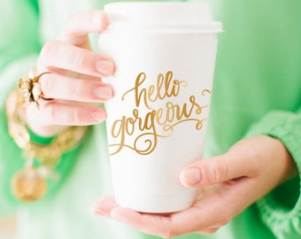 Hello Gorgeous! Coffee Cups (Qty 10)