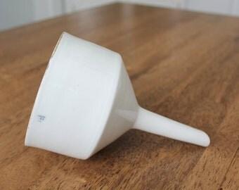"Vintage Coors 2A Porcelain Buchner Filter Funnel 7"" Tall x 4"" Diameter"