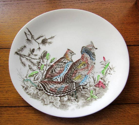 Ruffed Grouse Oval Dinner Plate Johnson Bros England
