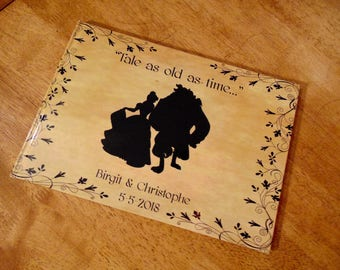 Beauty and the Beast Belle Personalised Wedding Guest Book, Photo Album, Scrapbook