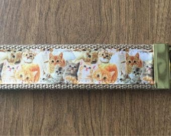 Cat Key Chain Zipper Pull Wristlet