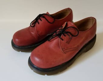 Vintage Utilitarian Red Dr. Martens Boot Shoes